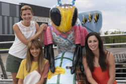 Coronation Street stars Samia Longchambon, Jane Danson and Julia Goulding meet Hilda Bugden